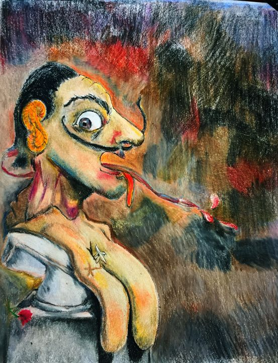 Portrait of Dali - Peculiar art by Nate