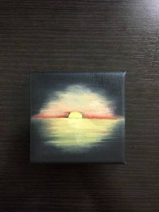 Hand-painted Oil Canvas - Sunset