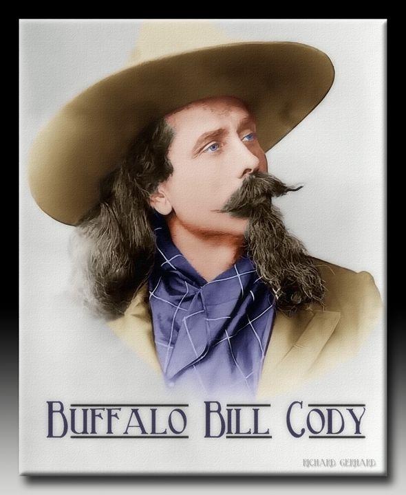 Buffalo Bill Cody in Oil - Richard Gerhard