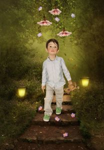 Little boy in Magical forest