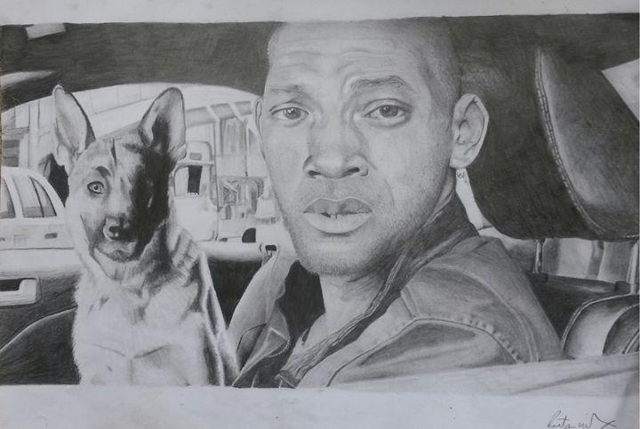 I Am Legend fan art - Art by Kirsty Willcox