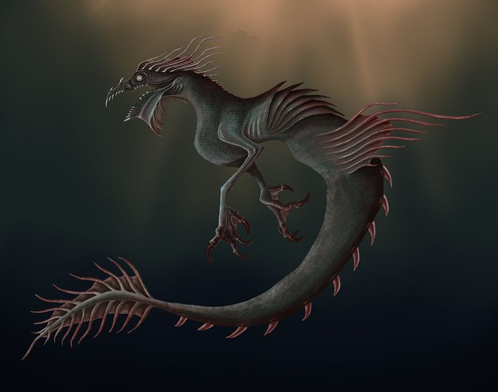 Sea Monster - Lillustration
