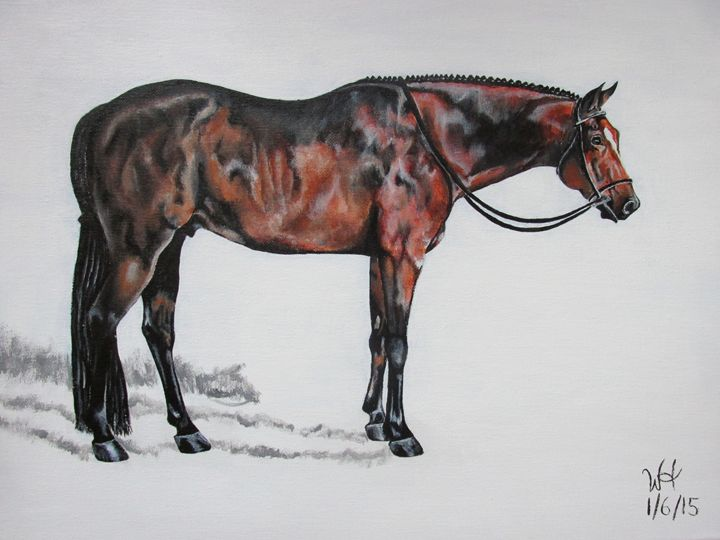 Silence - Winter Hall- Equine Art and More