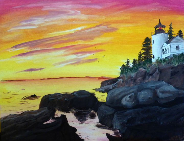 Lighthouse Sunset - Inspired Art and Crafts