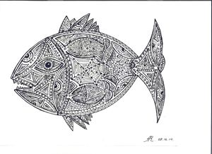 tattooed fish