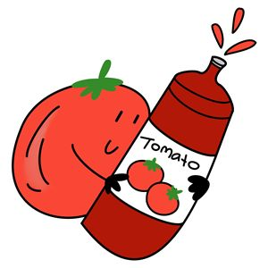 Tomato and ketchup