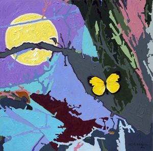 Harvest Moon Flight - Paintings by John Lautermilch