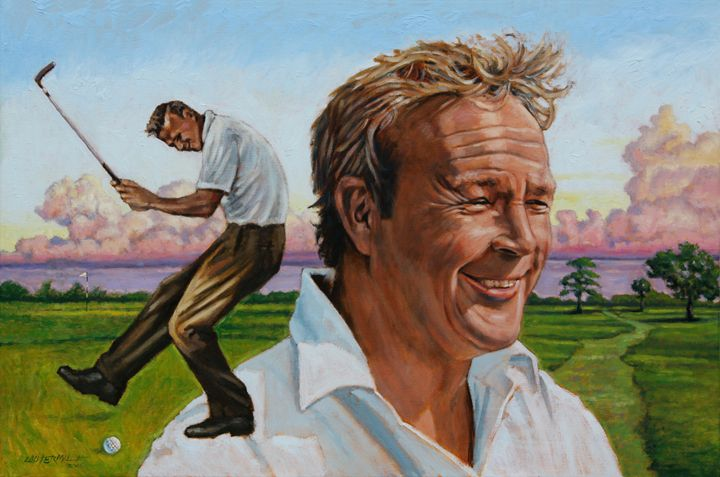 Arnold Palmer - Paintings by John Lautermilch