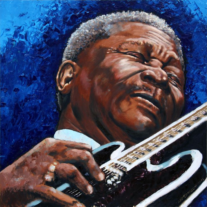 BB King - Paintings by John Lautermilch