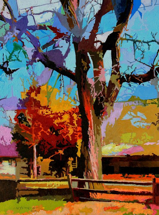 Autumn In Bridgeton - Paintings by John Lautermilch