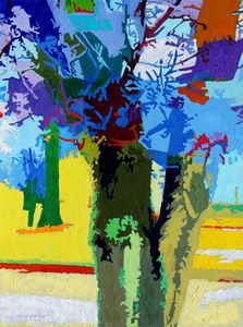 Painted Trees - Paintings by John Lautermilch