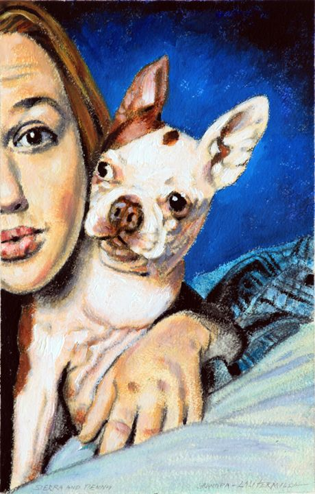 Sierra and Penny - Paintings by John Lautermilch