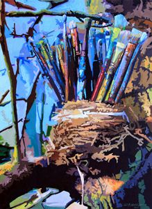 Art In A Nest - Paintings by John Lautermilch