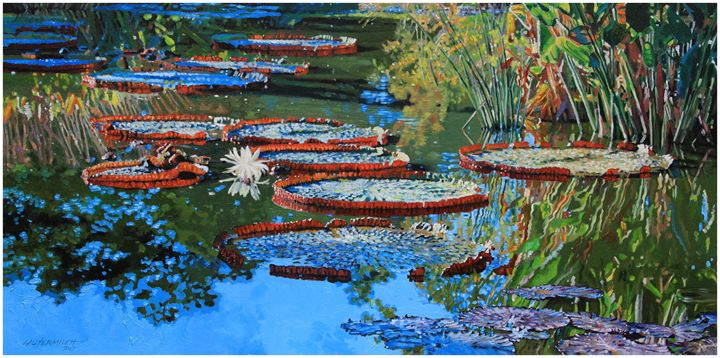 Water Lilies for Amelia - Paintings by John Lautermilch