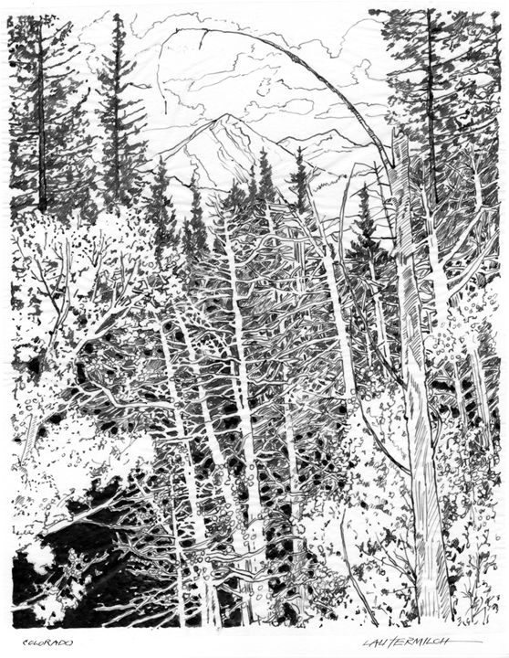 Rocky Mountains Colorado - Paintings by John Lautermilch