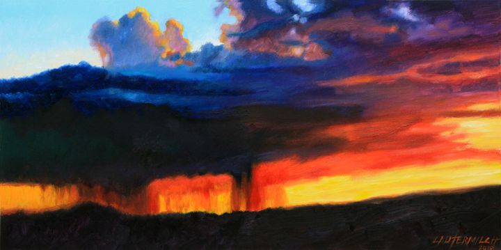 Sun Rain and Clouds - Paintings by John Lautermilch