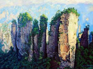 China's Mountains #11 - Paintings by John Lautermilch