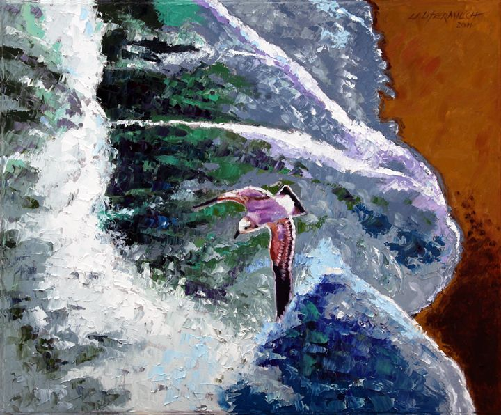 Waves of Freedom - Paintings by John Lautermilch