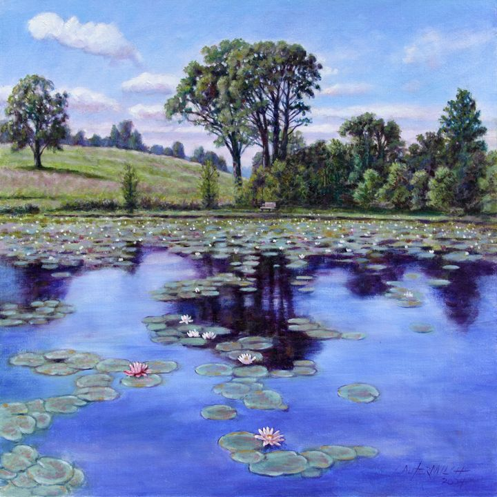 Wet Land - Shaw Nature Reserve - Paintings by John Lautermilch