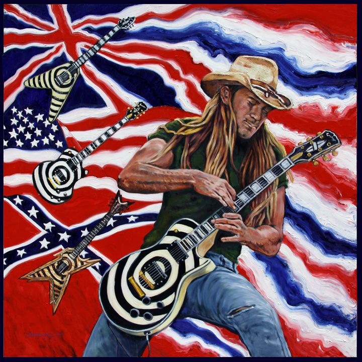 Zakk Wylde - Paintings by John Lautermilch