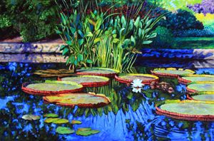 In the Stillness of the Garden - Paintings by John Lautermilch