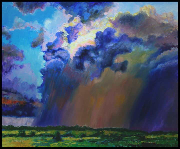 Storm Clouds Over Missouri - Paintings by John Lautermilch
