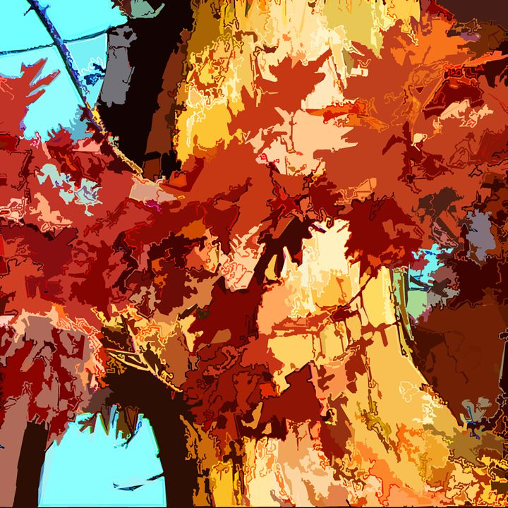 Tree Abstraction 15 - Paintings by John Lautermilch