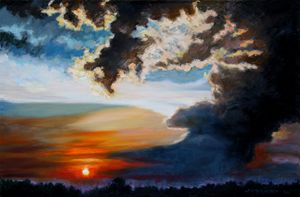 End of Another Day - Paintings by John Lautermilch