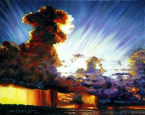 Sunrise After the Storm - Paintings by John Lautermilch