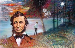 Thoreau - Paintings by John Lautermilch