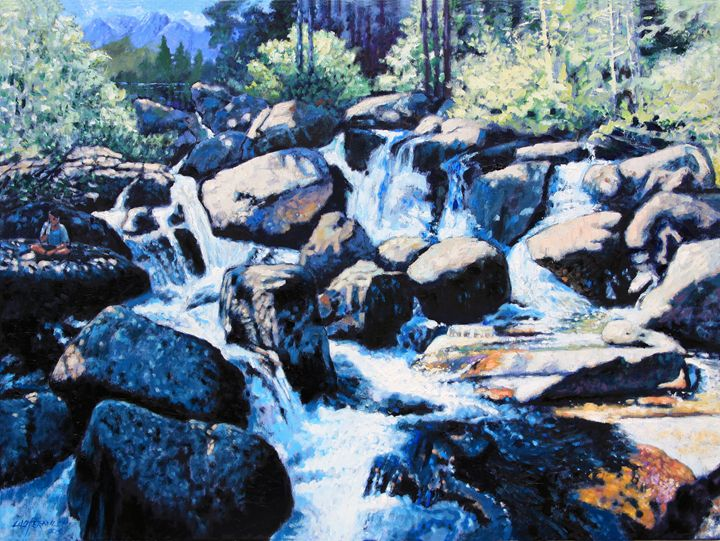 Somewhere in the Rocky Mountains - Paintings by John Lautermilch