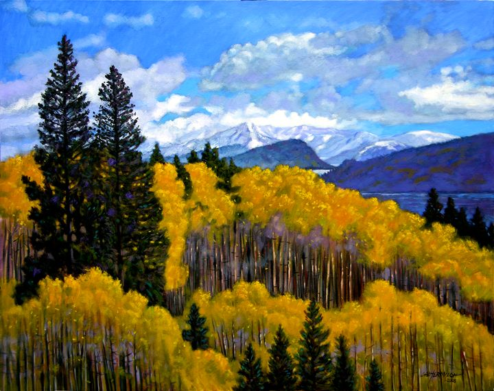 Nature's Patterns-Rocky Mountains - Paintings by John Lautermilch