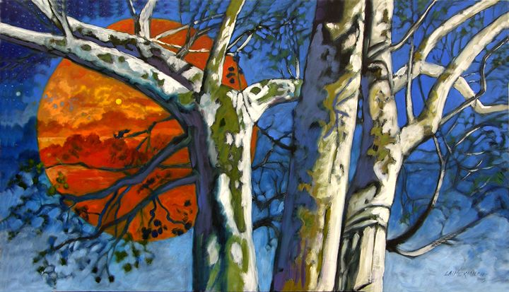 Three Sycamore Trees - Paintings by John Lautermilch