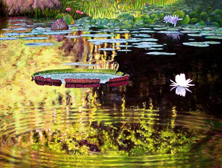 Ripples On Quiet Pond   Paintings By John Lautermilch