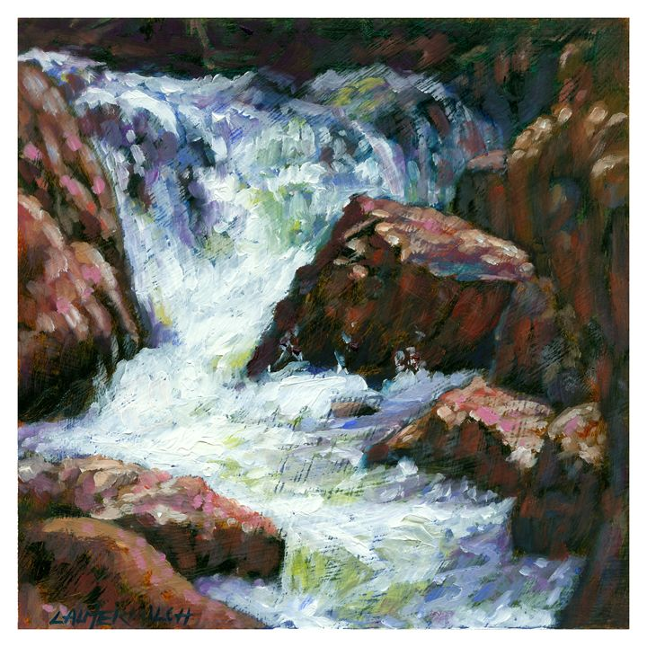 Fast Stream - Paintings by John Lautermilch