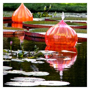Red Glass on the Pond - Paintings by John Lautermilch