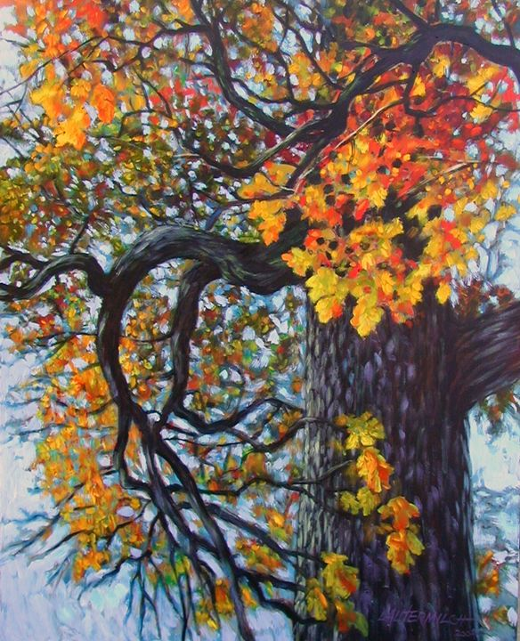 Fall Oak - Paintings by John Lautermilch