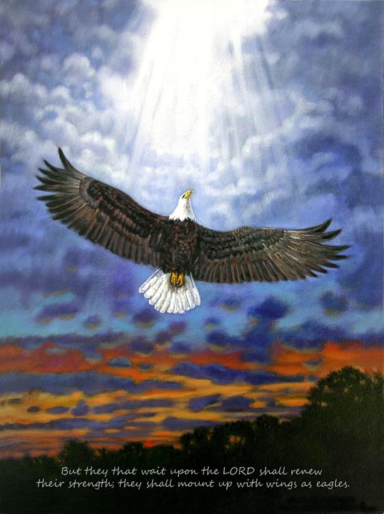 On Eagles Wings - Paintings by John Lautermilch