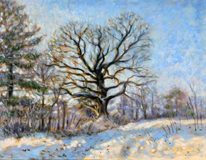 Early Morning Snowfall - Paintings by John Lautermilch