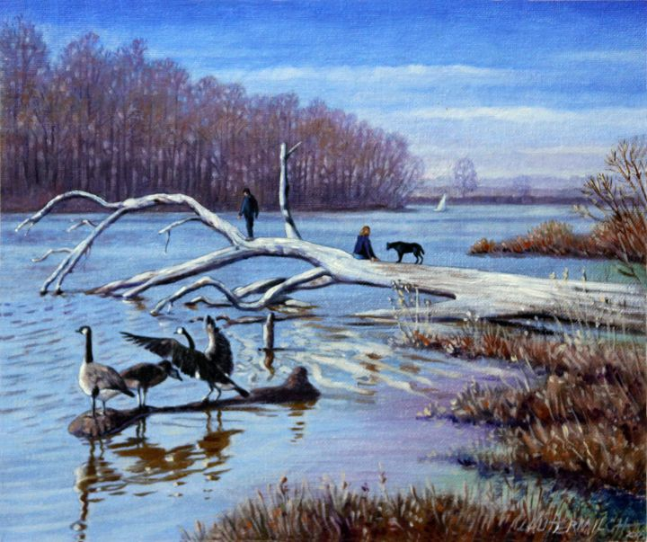 Creve Coeur in March - Paintings by John Lautermilch