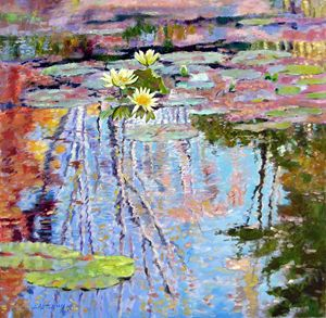 Fall Reflections 57-2008 - Paintings by John Lautermilch