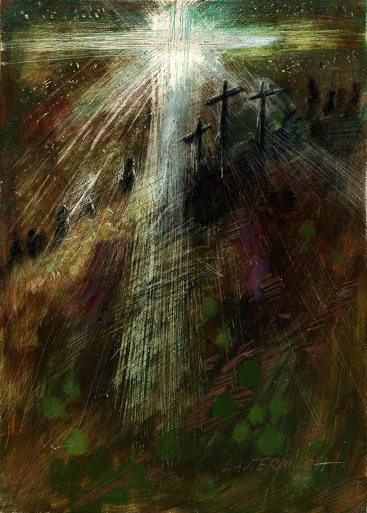 Coming to the Cross - Paintings by John Lautermilch