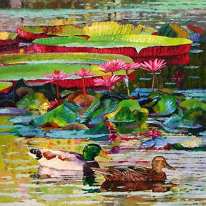 Romancing Among the Lilies 12-2009 - Paintings by John Lautermilch