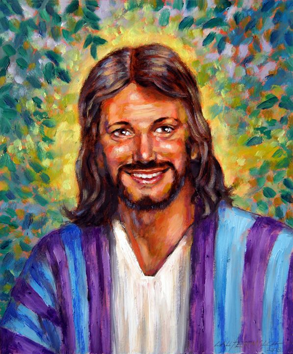 He Smiles - Paintings by John Lautermilch