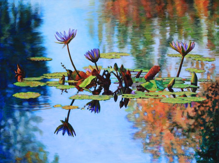 The Glow of Autumn - Paintings by John Lautermilch