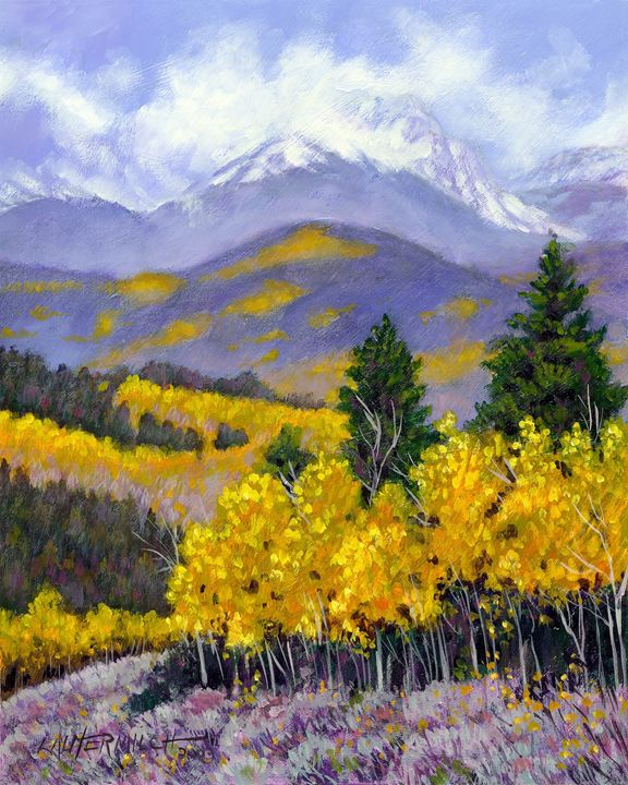 Snowing in the Mountains 22-2003 - Paintings by John Lautermilch