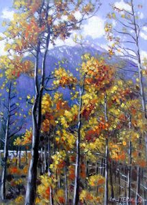 Shimmering Aspens 68-2003 - Paintings by John Lautermilch