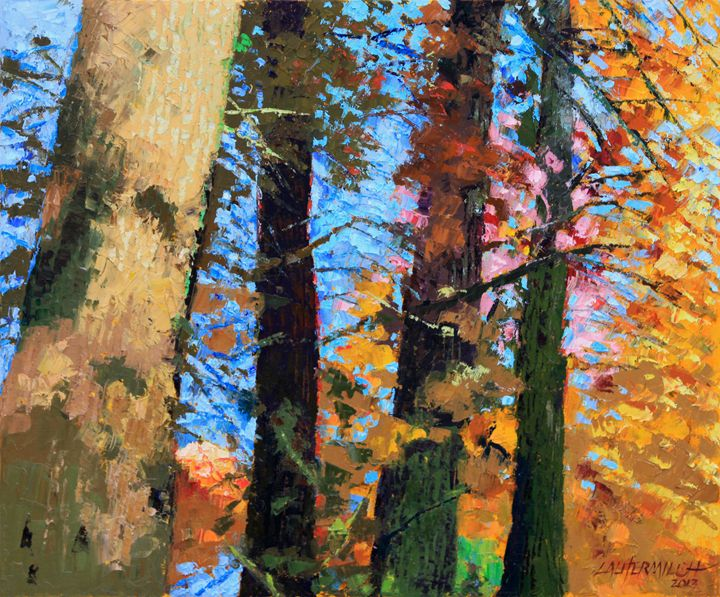 Fall in the Woods 57-2013 - Paintings by John Lautermilch