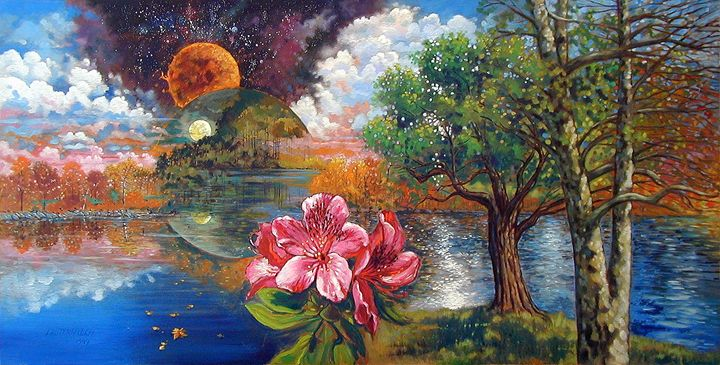Rhododendron's Creation 5-1999 - Paintings by John Lautermilch