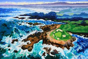 Impressions of Pebble Beach - Paintings by John Lautermilch